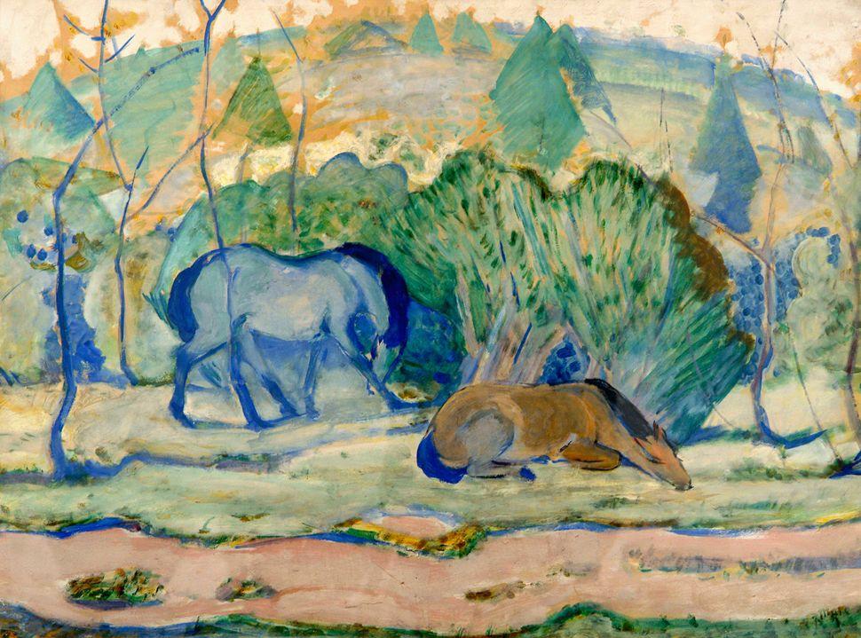Chevaux au pâturage (Pferde auf der Weide), 1910 © Franz Marc (Munich, 1880 – Verdun, 1916) © Musée des Beaux-Arts de Liège (