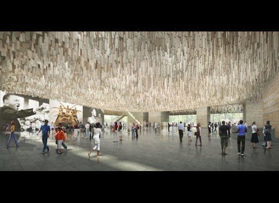 Smithsonian National Museum of African American History and Culture Plaza Washington D.C., opens to the public in 2015 Freelo