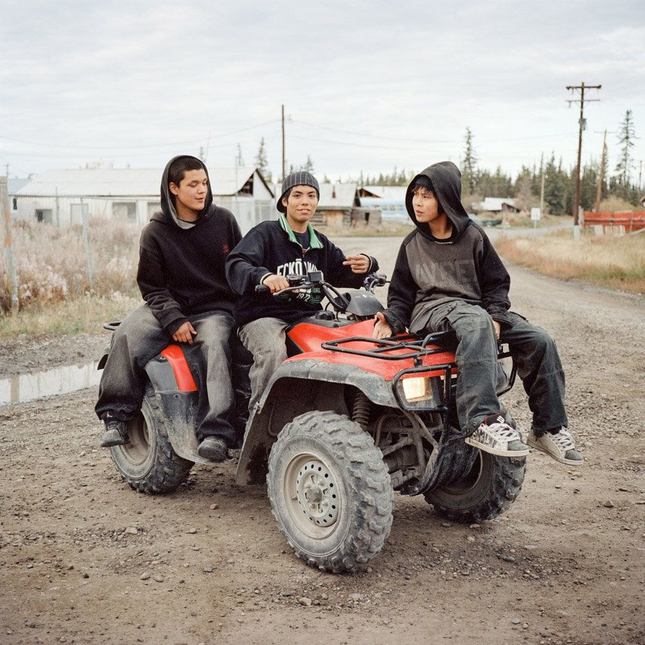 Life on the line. Benjamin, Enoch and William. Fort Yukon, Alaska, 2009