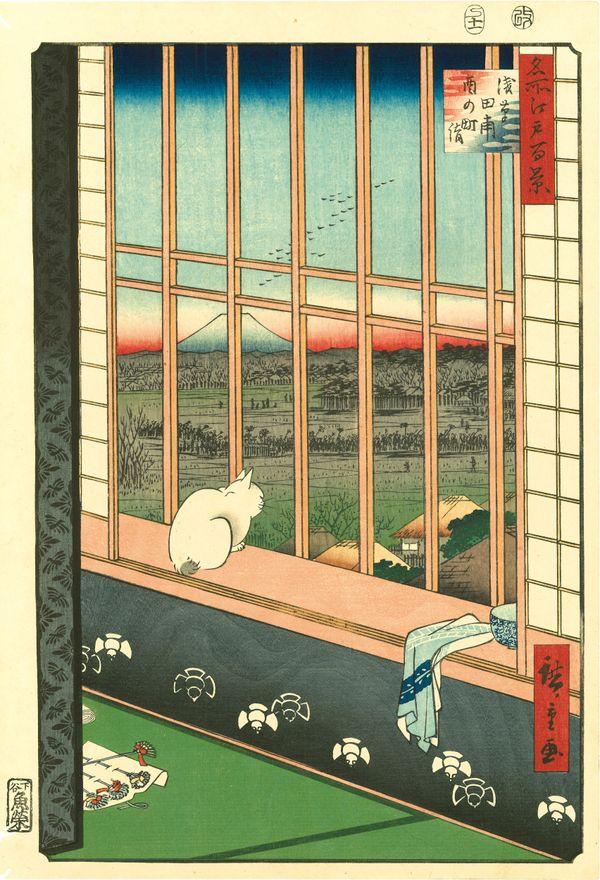 Utagawa Hiroshige (1797–1858), Asakusa Ricefields and Torinomachi Festival from the series One Hundred Famous Views of Edo, 1