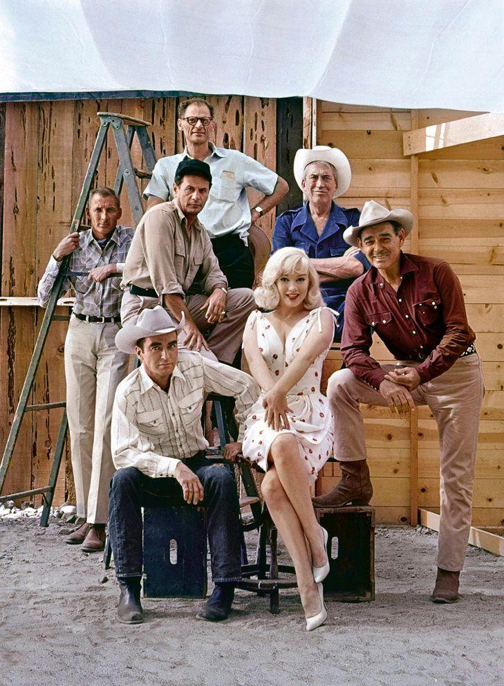 Frank Taylor, Montgomery Clift, Eli Wallach, Arthur Miller, Marilyn Monroe, John Huston, Clark Gable