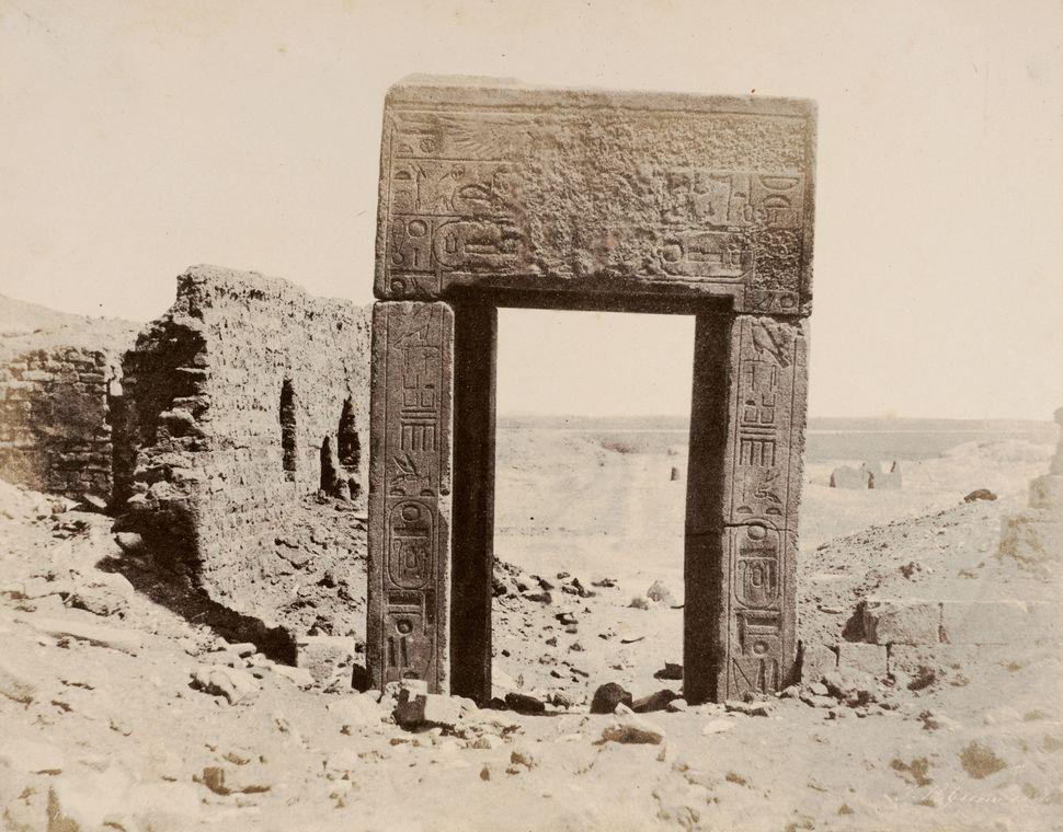 John Beasly Greene El Assasif, Porte de Granit Rose, No. 2, Thébes 1854 Photograph, salted paper print from a waxed plate neg