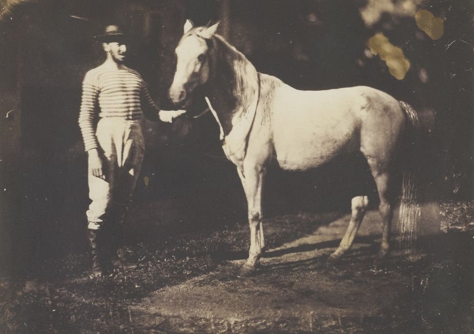 Jean-Baptiste Frenet Horse and Groom c.1855 Photograph, salted paper print from a glass plate negative © Wilson Centre for Ph
