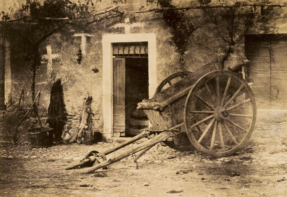 Paul Marés Ox cart, Brittany Circa 1857 Photograph, salted paper print from a paper negative © Wilson Centre for Photography