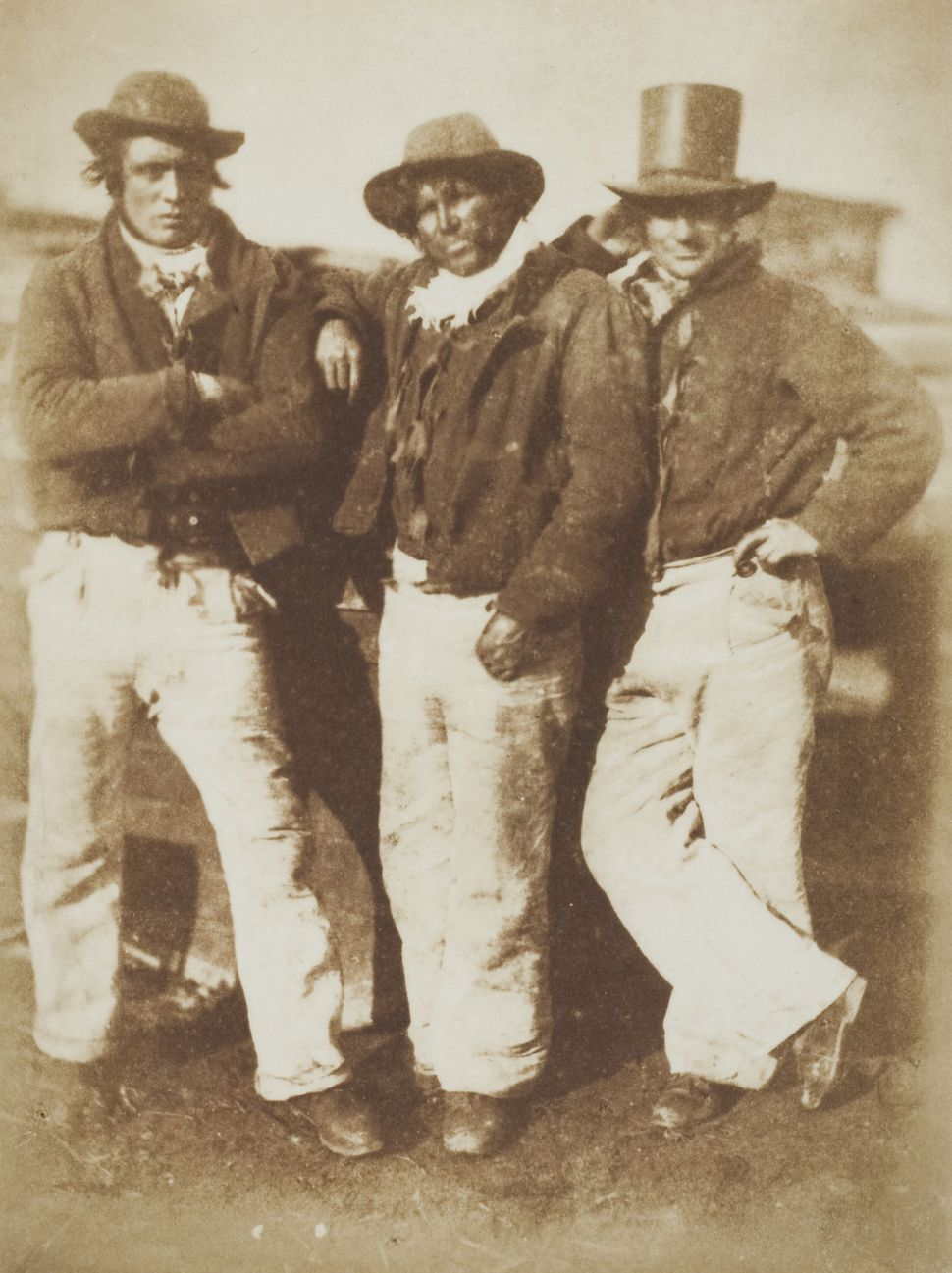 David Hill & Robert Adamson Newhaven Fishermen c.1845 Photograph, salted paper print from a paper negative © Wilson Centre fo