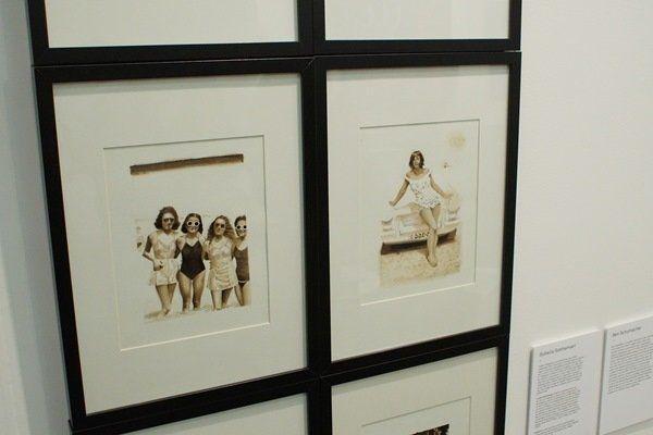 Soheila Sokhanvari, drawings in smuggled Iranian crude oil, at the Moving Museum, London. Photo Aaron Sherman.