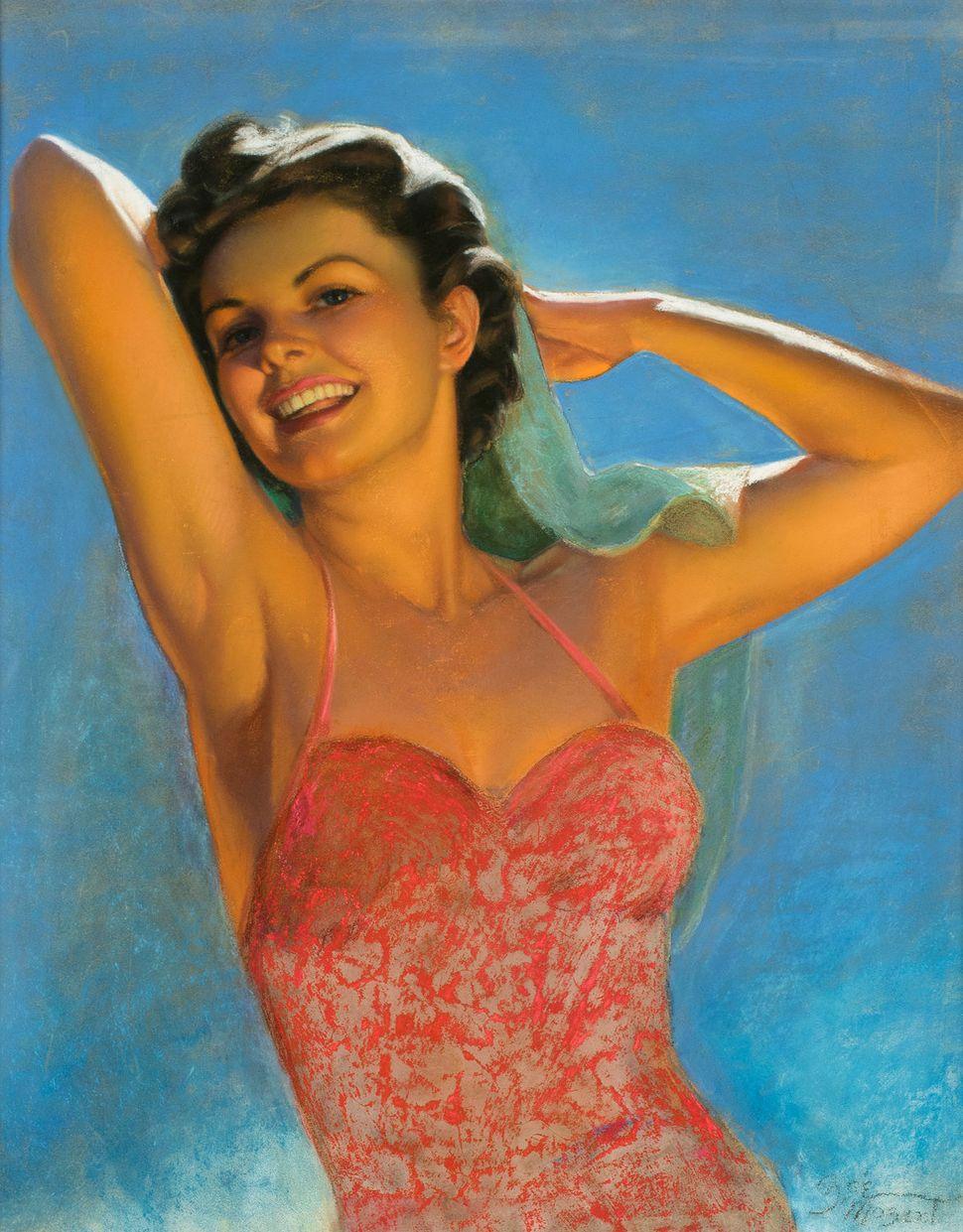 Zoe Mozert, Woman in Red Swimshirt