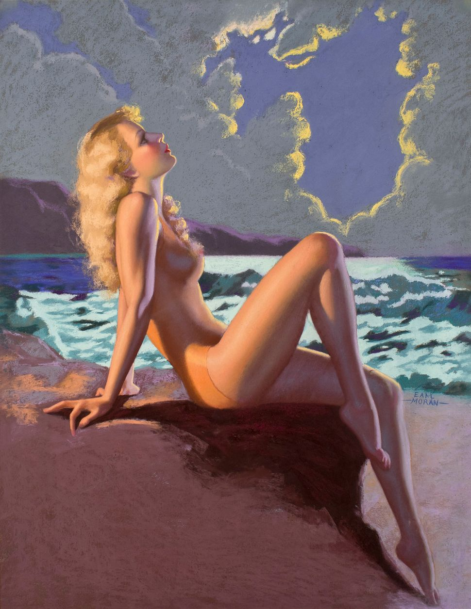Earl Moran, Eve-N-Tide (46x36 Pastel on Board )