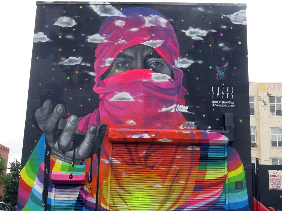 Mural by Dasic Fernandez. Photo by Lois Stavsky. NYC. From the Bushwick Collective.