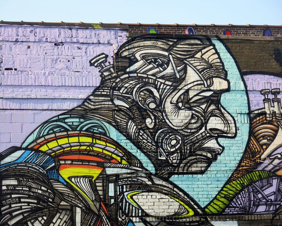 Mural by Rimx. Photo by Lois Stavsky. NYC. From the Bushwick Collective.