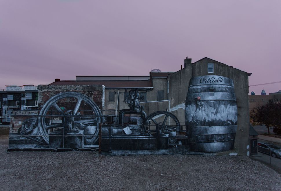 Industrious Light: Ortlieb's Brewery © 2014 City of Philadelphia Mural Arts Program/Phillip Adams. Photo by Steve Weinik. 3rd