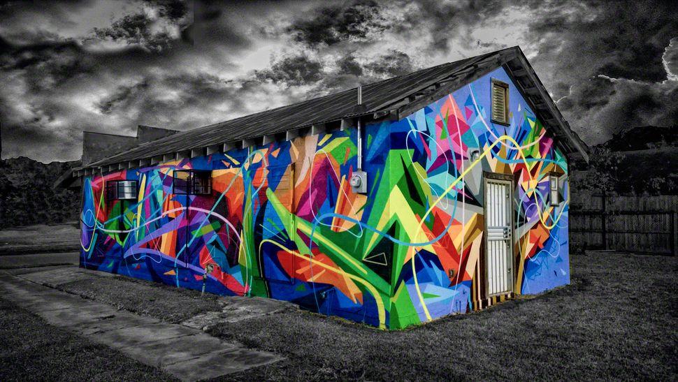 """""""Mural House"""" by Sabotaje Al Montaje. Baton Rouge, LA. Museum of Public Art."""