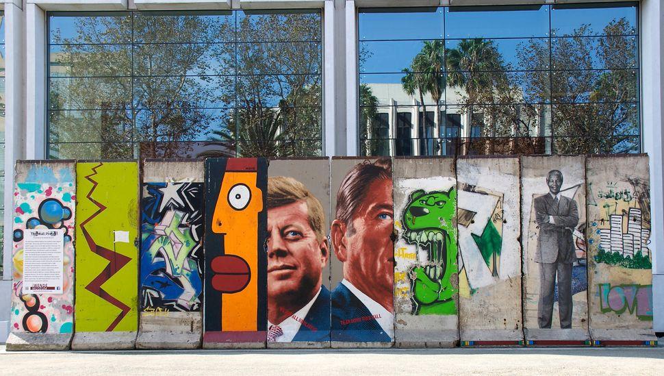 Ten original segments of the Berlin Wall at 5900 Wilshire Blvd. The Wende Museum. Los Angeles, CA.