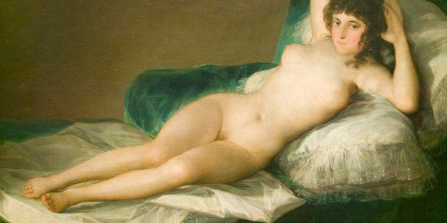 The Nude Maja, Duchess of Alba, by Francisco de Goya as shown in the Museum de Prado, Prado Museum, Madrid, Spain (Photo by V