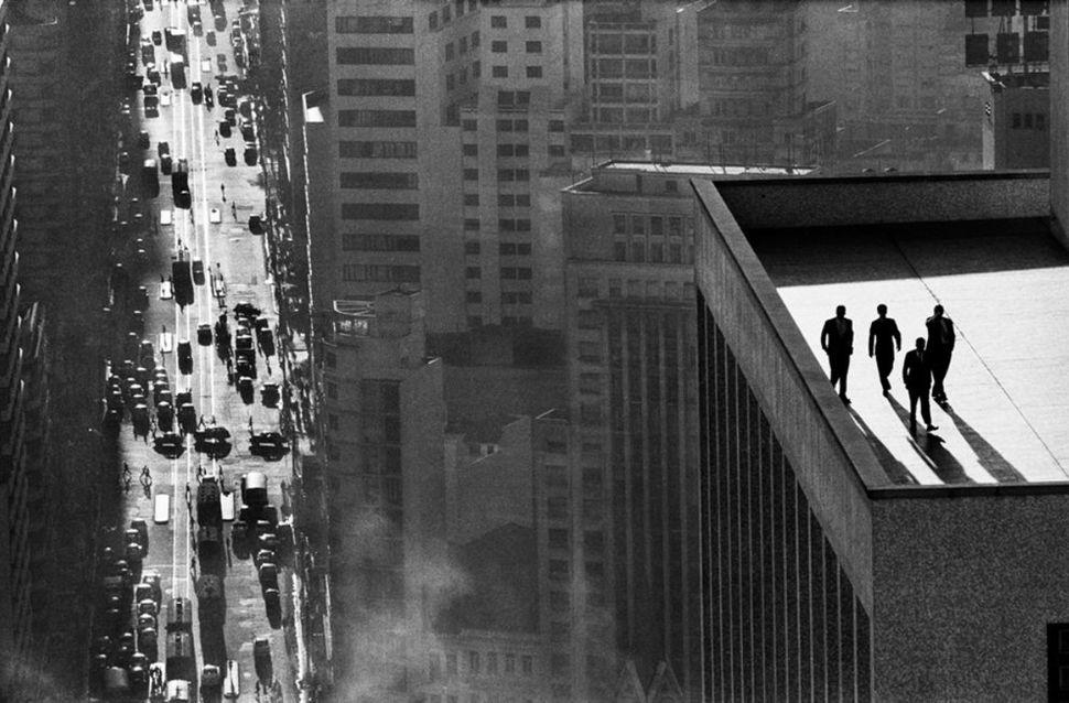 Men on a rooftop, Sao Paulo, Brazil, 1960