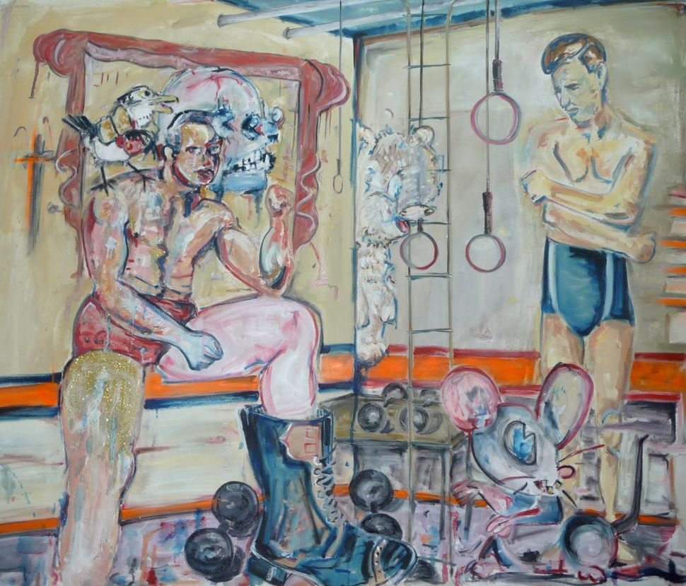 Scooter La Forge, Masters of the Universe,   2011, Oil on canvas, 50 x 60 in. Collection of   David W. Perkins and George Con