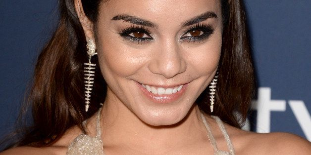BEVERLY HILLS, CA - JANUARY 12:  Actress Vanessa Hudgens attends the 2014 InStyle and Warner Bros. 71st Annual Golden Globe A