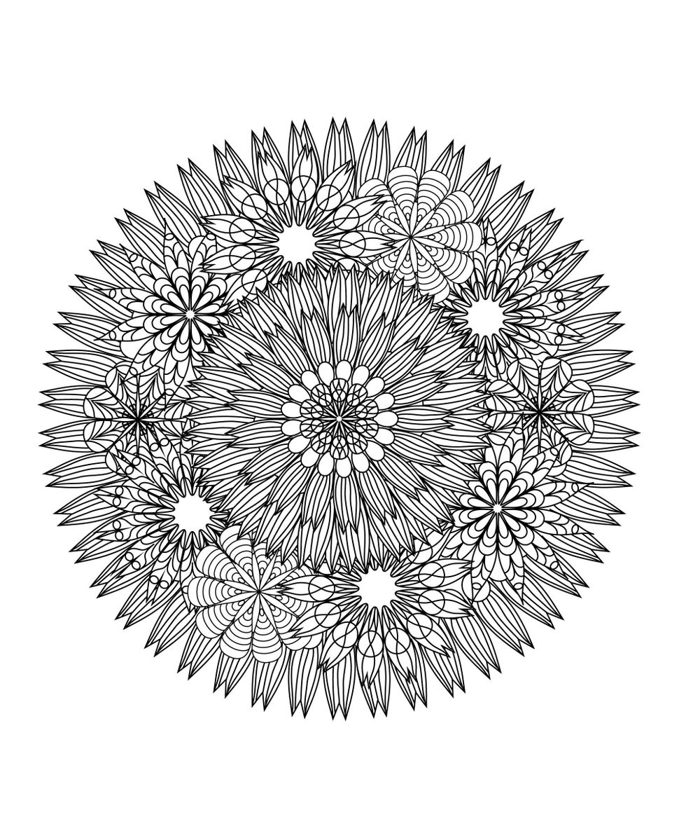 This Mandala Coloring Book For Grown Ups Is The Creative's ...