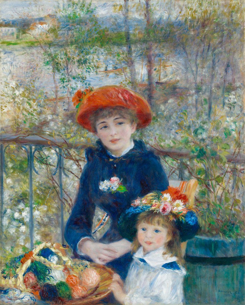 """Pierre-Auguste Renoir, """"Two Sisters,"""" 1881"""