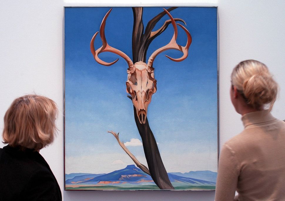 "Georgia O'Keeffe, ""Deer's Skull with Pedernal,""1936"