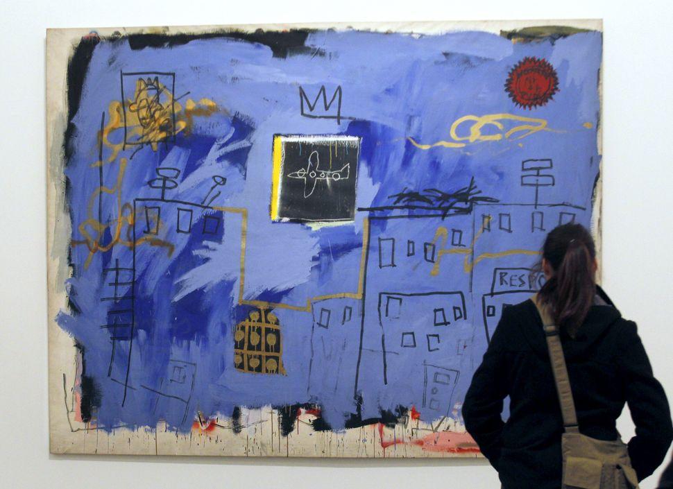 """Jean-Michel Basquiat, """"Blue Airplane,"""" 1981"""