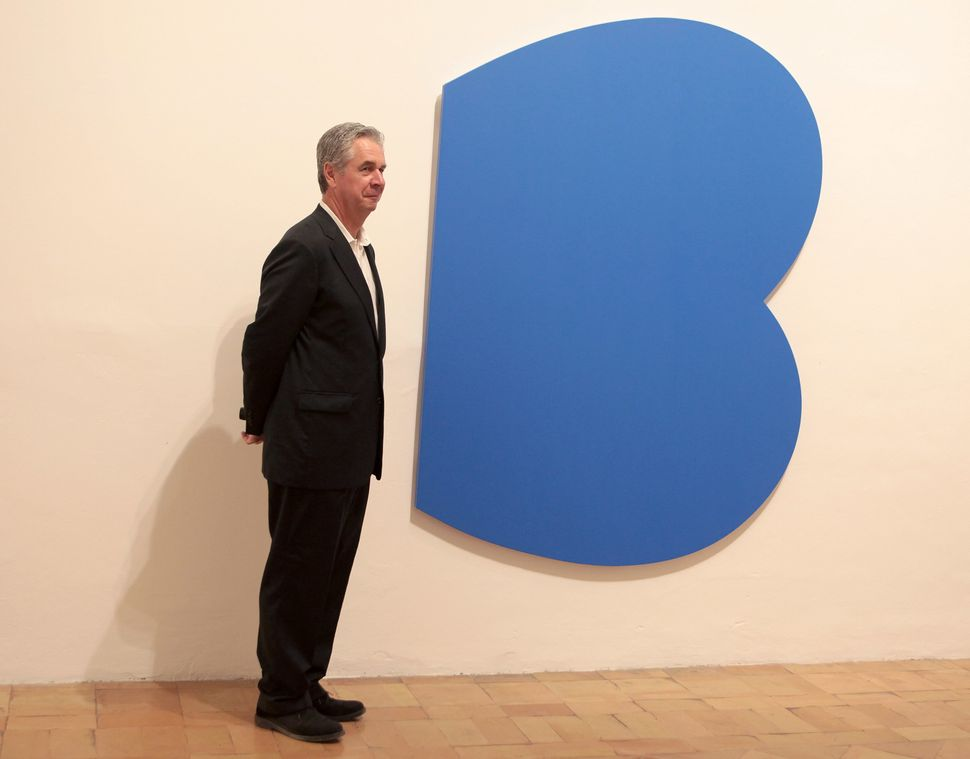 "Ellsworth Kelly, ""Blue Curves in Relief,"" 2009"