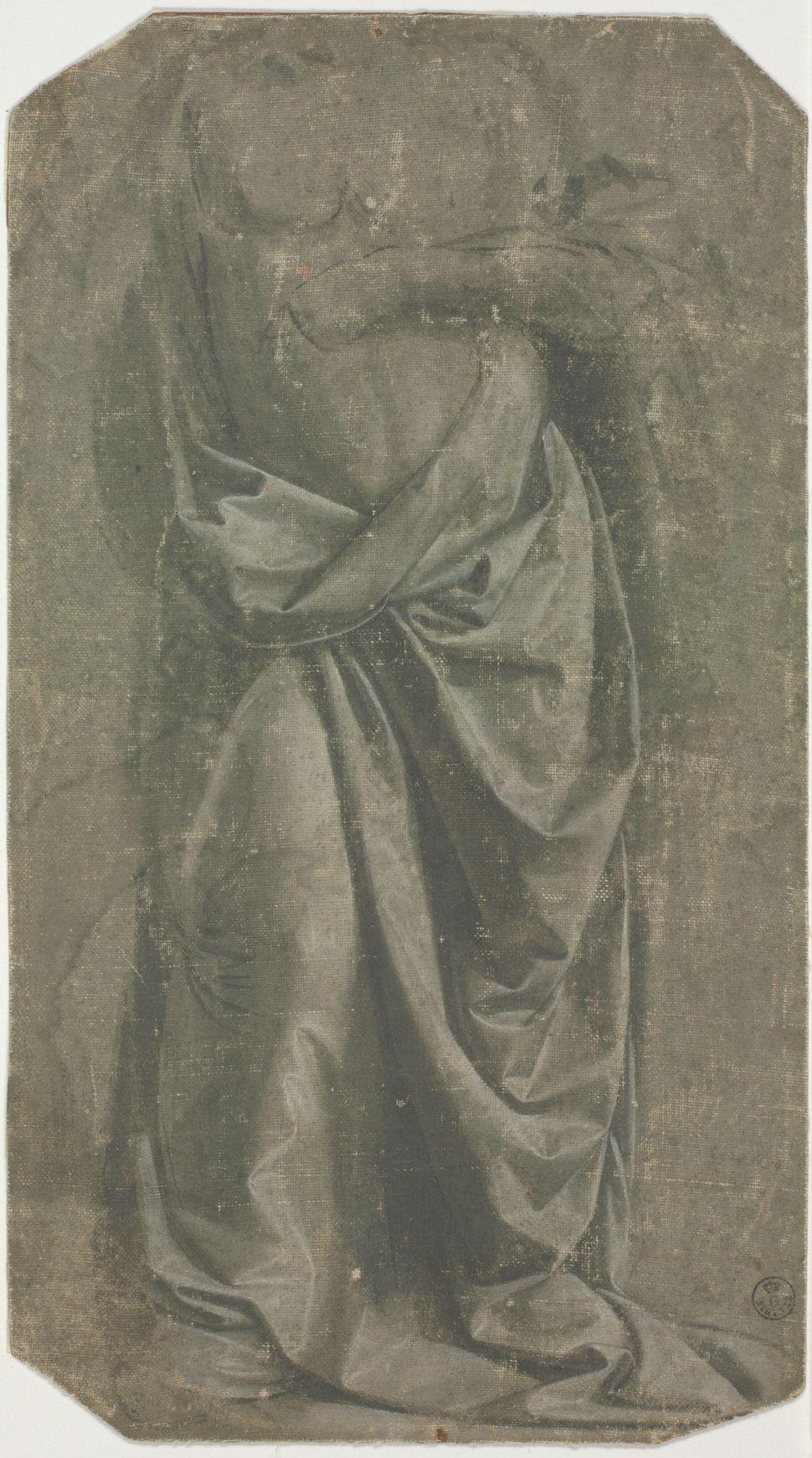 """Drapery Study of a Standing Figure,""  late 1470s, Leonardo da Vinci."
