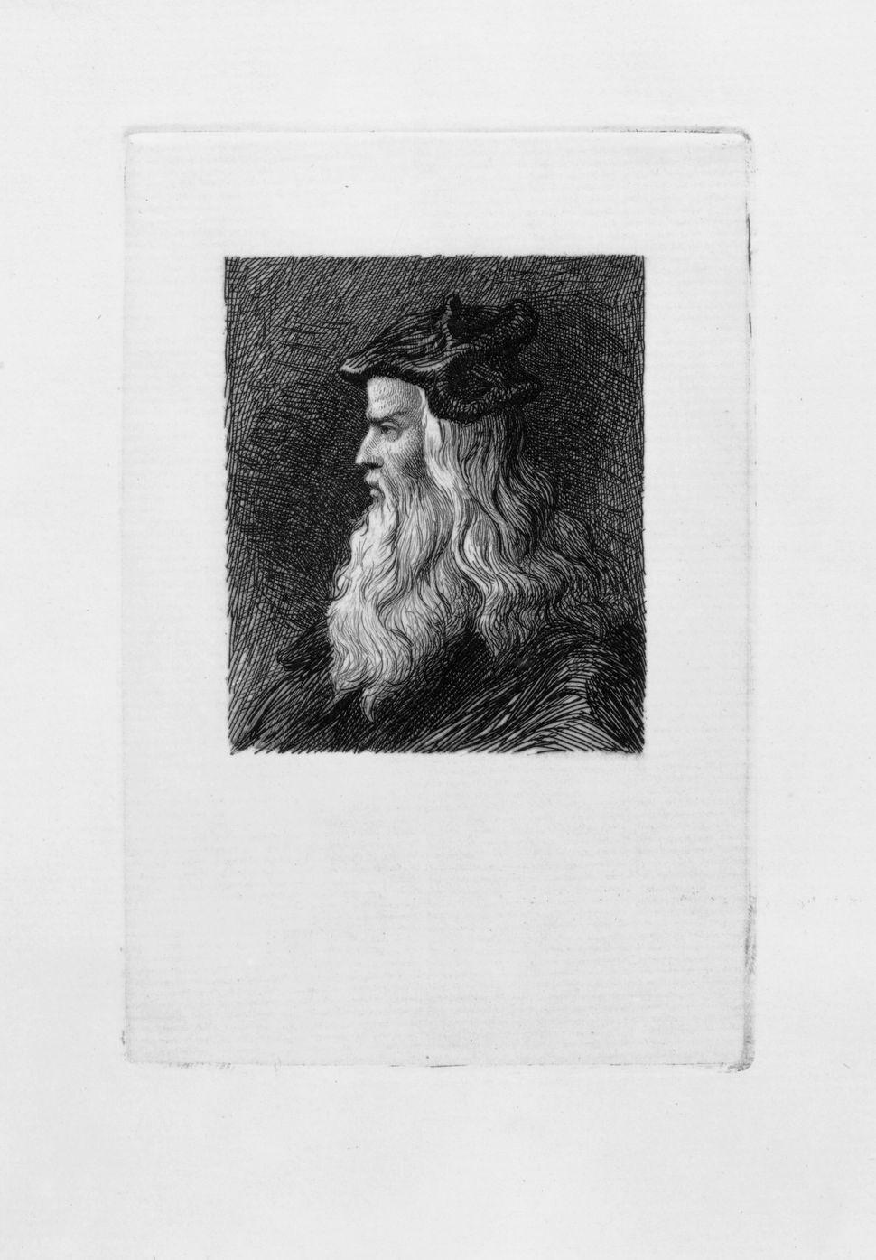 """Portrait of Leonardo da Vinci,"" 1879, James David Smillie"