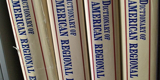 In this March 3, 2009 file photo are volumes 1 through 4 of the Dictionary of American Regional English in the office of dict