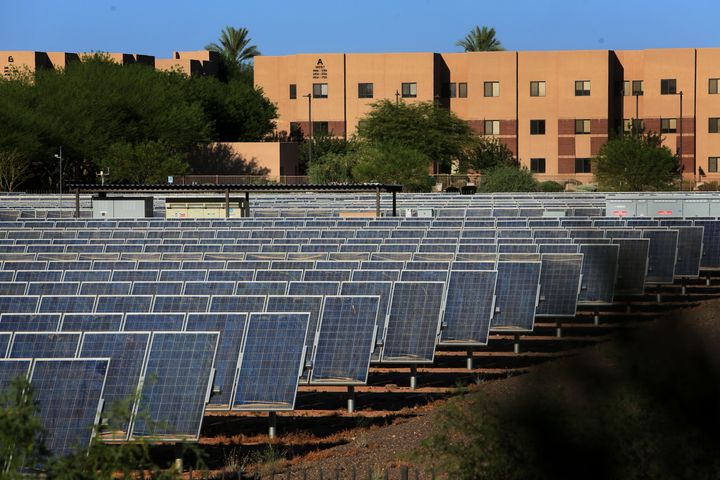 In Arizona, energy companies are fighting a ballot initiative that would require purchasing 50 percent of their energy from r