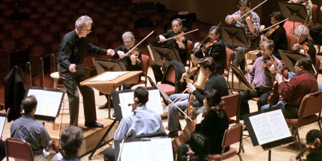 ** ADVANCE FOR FEB. 8-9 ** Baltimore Symphony Orchestra director Yuri Temirkanov directs the orchestra during a rehearsal Wed