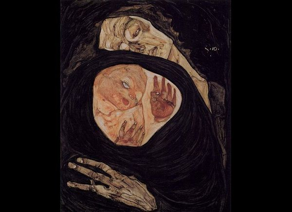 "Egon Schiele, ""Tote Mutter,"" 1910"