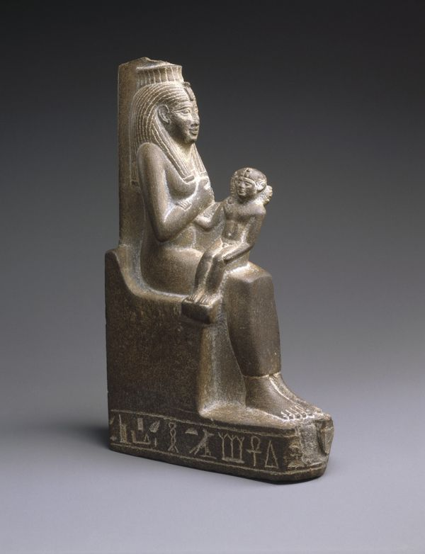Statue of Isis Holding the Child Horus, ca. 664-525 B.C.E.