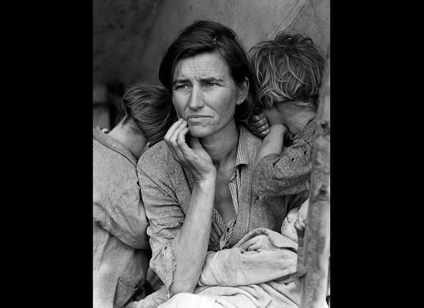 "Dorothea Lange, ""Migrant Mother With Three Children,"" 1936"