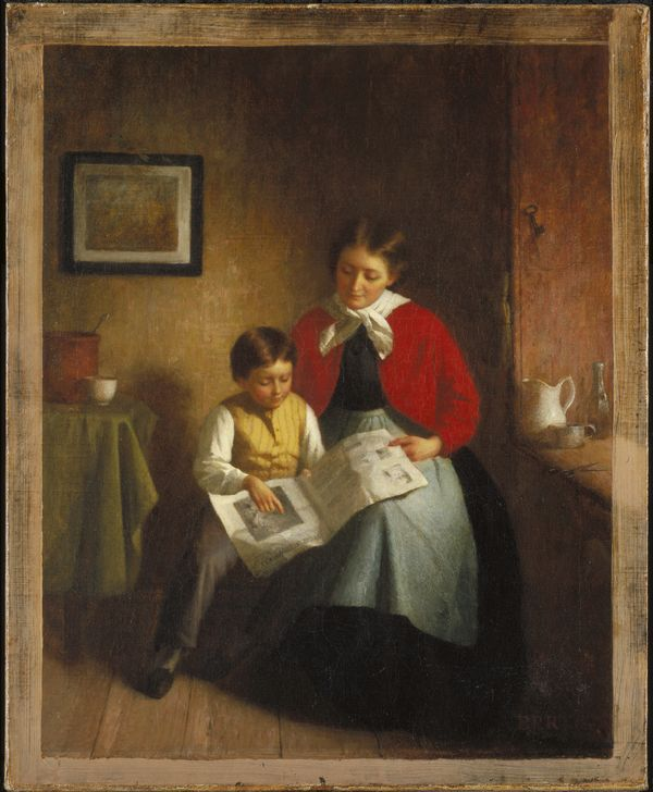 "Platt Powell Ryder, ""The Illustrated Newspaper,"" 1868. Oil on canvas, 16 7/8 x 13 13/16 in. (42.9 x 35.1 cm)"