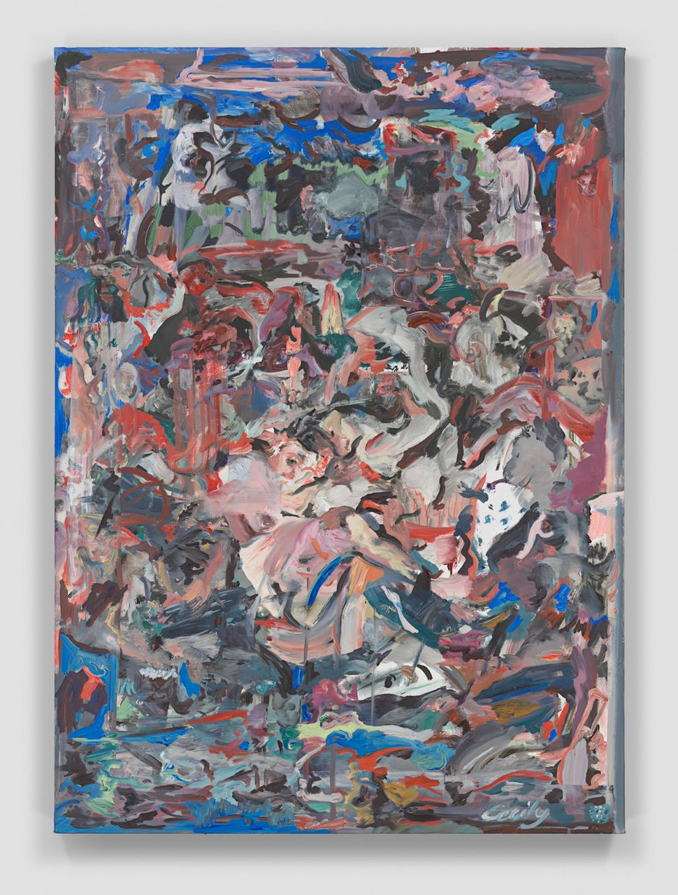 """Cecily Brown Stuck in the Middle with You, 2014-2015 Oil on linen 43 x 31"""" $350,000"""