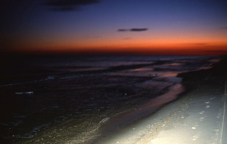 "Nan Goldin Sunset on the Beach, Bridgehampton, 2000 Cibachrome print 30 x 40"" $15,000"