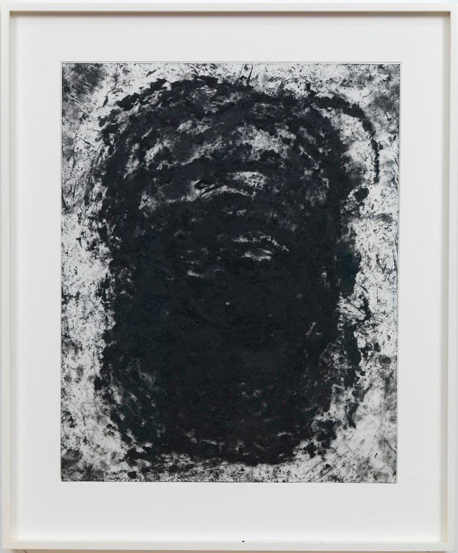 "Richard Serra Transparency #38, 2012 Litho crayon on mylar 30 x 24"" $200,000"
