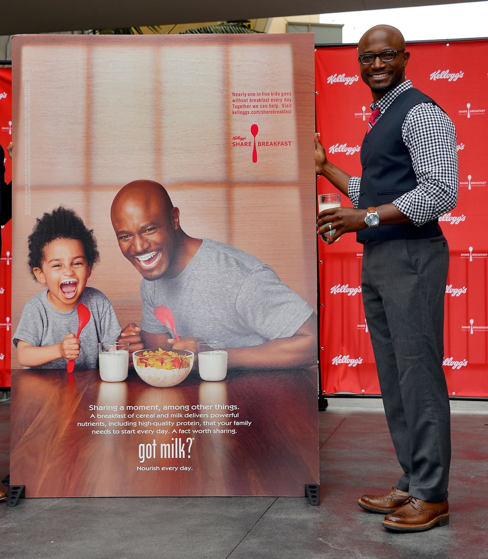 Actor Taye Diggs attends the unveiling of the new Milk Mustache 'got milk?' ad campaign at Hollywood and Highland on March 5,