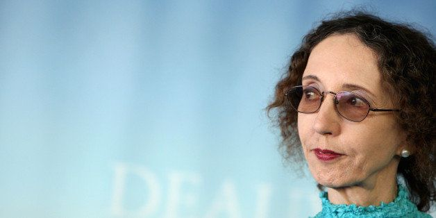 US writer Joyce Carol Oates poses during a photocall at the 36th American Film Festival, in Deauville, northwestern France, o