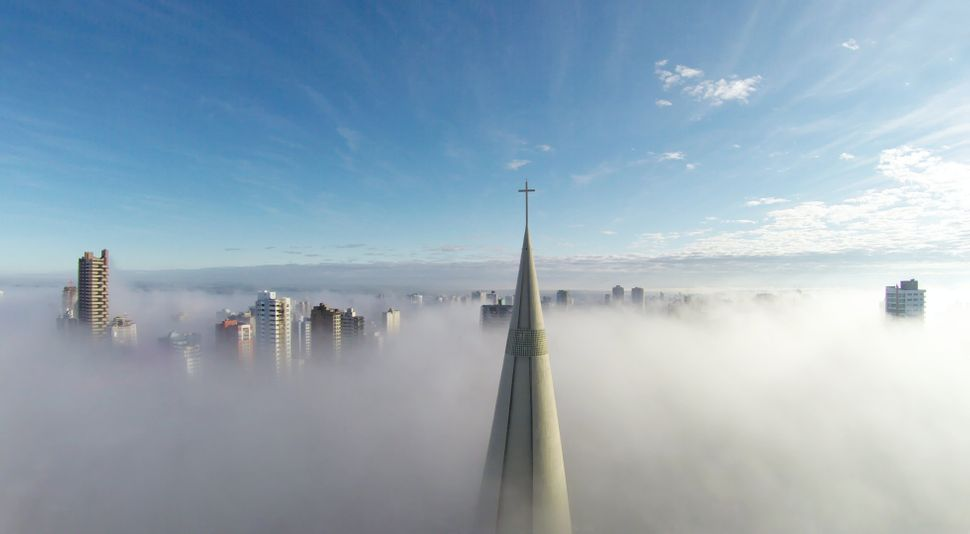 """First prize in """"places"""": """"Above the mist,"""" taken in Maringá, Paraná, Brazil"""