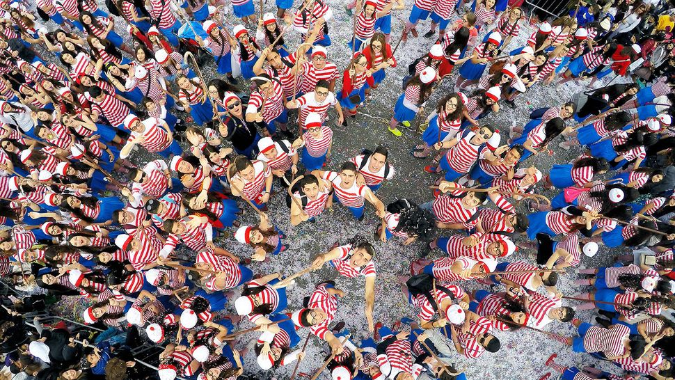 """First prize in """"dronies"""": """"Where's Wally?"""" taken in Limassol Carnaval, Cyprus"""