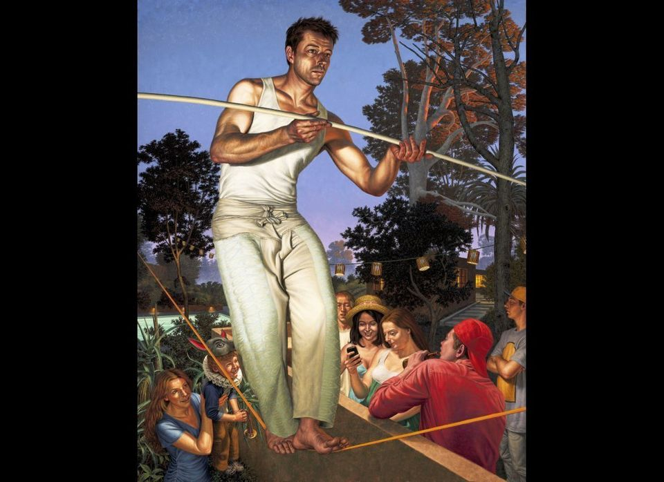 """F. Scott Hess  """"The Rope Walker,"""" 2010 oil on canvas 73 x 59 inches Available at <a href=""""http://www.koplindelrio.com"""" ta"""