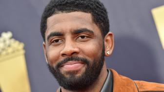 SANTA MONICA, CA - JUNE 16:  NBA player Kyrie Irving attends the 2018 MTV Movie And TV Awards at Barker Hangar on June 16, 2018 in Santa Monica, California.  (Photo by Axelle/Bauer-Griffin/FilmMagic)