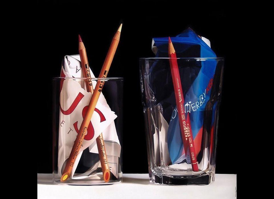 """Pedro Campos, """"Pencils,"""" 100x100 cm."""