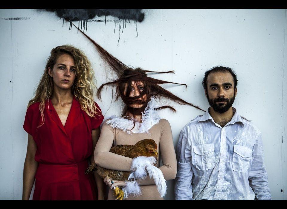 Kathryn Hamilton, Kelsea Martin and Cyrus Moshrefi. Photo by Maria Baranova