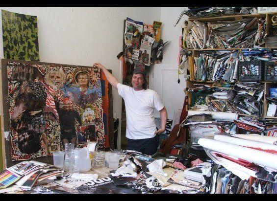 Michael Anderson in his studio