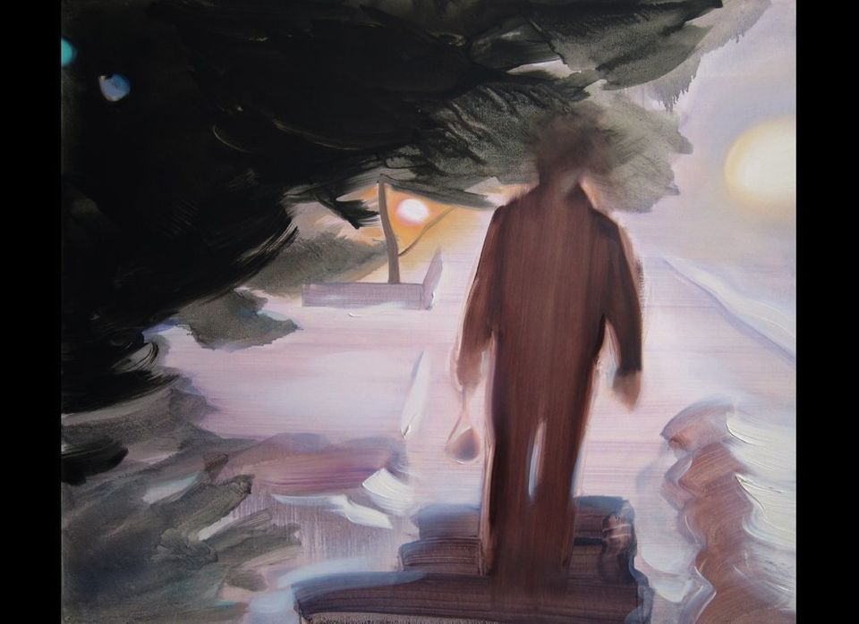 """Walking Back"" 34""  x 40""   oil on canvas  <a href=""http://www.karenazarnia.com"" target=""_hplink"">www.karenazarnia.com</a>"