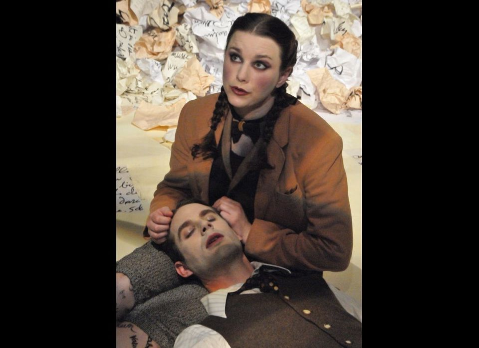 <strong>PHOTO CREDIT</strong>: Marissa Keltie and Theo Black in Central Works production, A Man's Home...an ode to Kafka's Ca