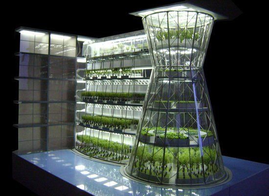 """Clepsydra is a new building type - actually an accessory building- a vertical greenhouse that can be linked to existing or n"